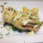 Local Softshell Crab, lightly fried and served with Basil Aioli.